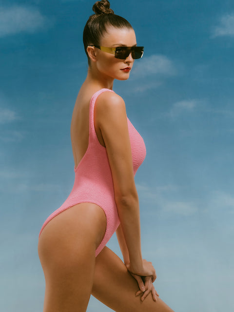Bubble Gum Pink Classic One Piece