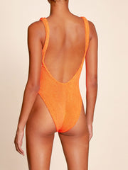 Orange Classic One Piece Swimsuit