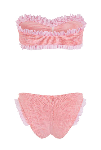 Peach And Pink Frill Lucille Bikini