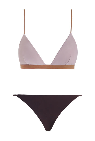Pale Pink Chroma Sculpted Triangle Bikini