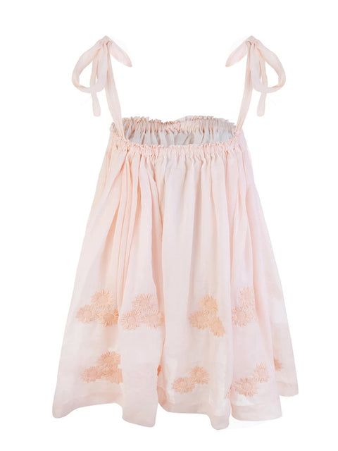 Peach Daisy Cotton Smock Dress