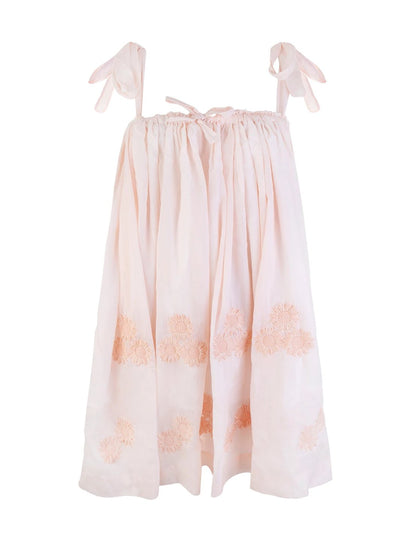Peach Daisy Cotton Dress
