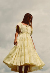 Butter Peasant Dress