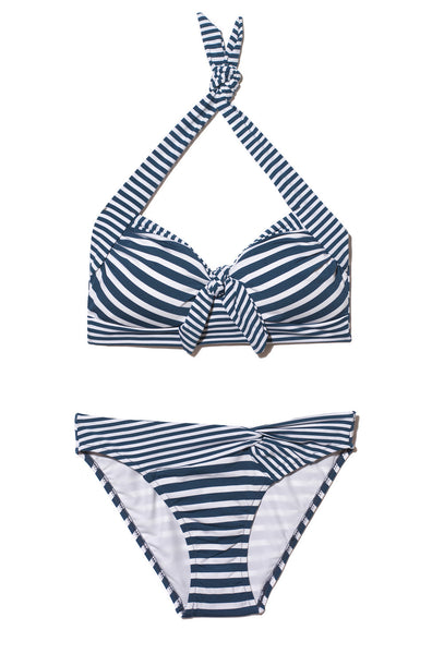 DD/E Blue and white stripe bikini