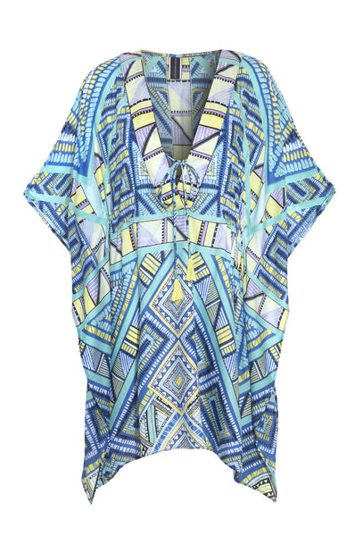 Vibration Printed Cotton Kaftan