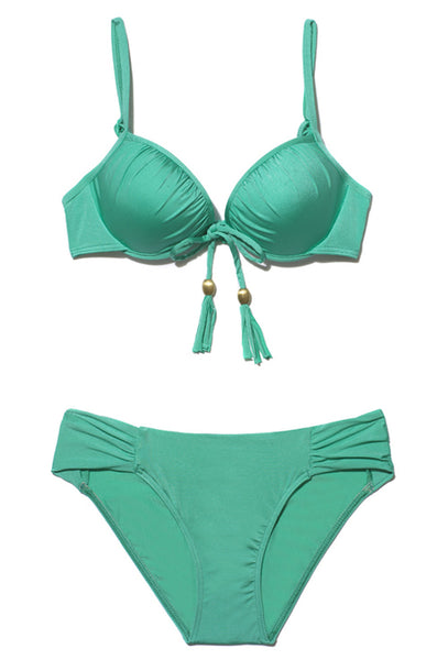 Sea Mist Lustre Underwired Push up Bikini