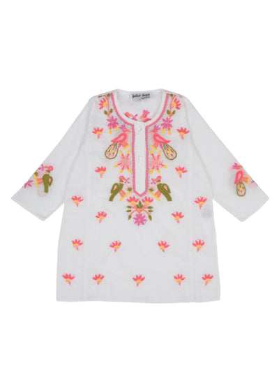 Bird Embroidered Children's Kaftan
