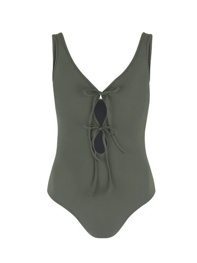 Khaki Allure V-Neck Silent Underwire One Piece