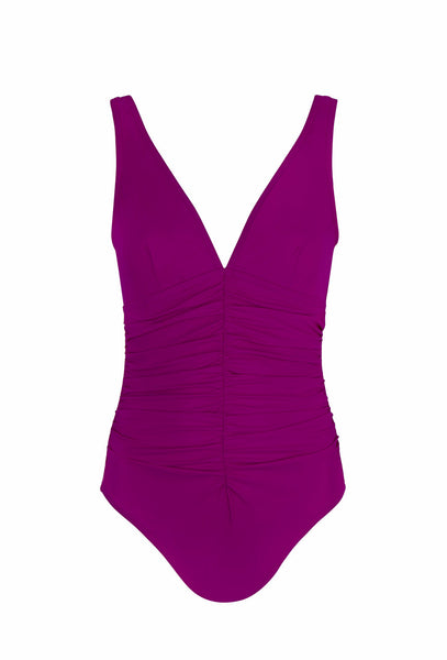 Magenta Pink Smart Suit V-Neck One Piece
