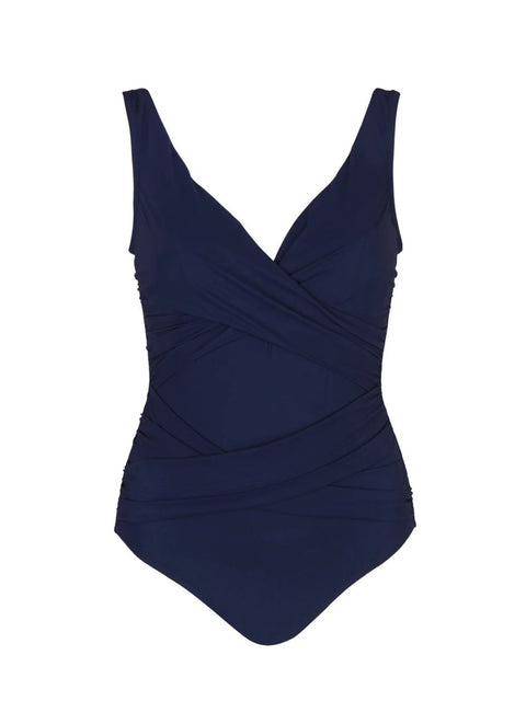 Navy Smart Suit Underwire One Piece