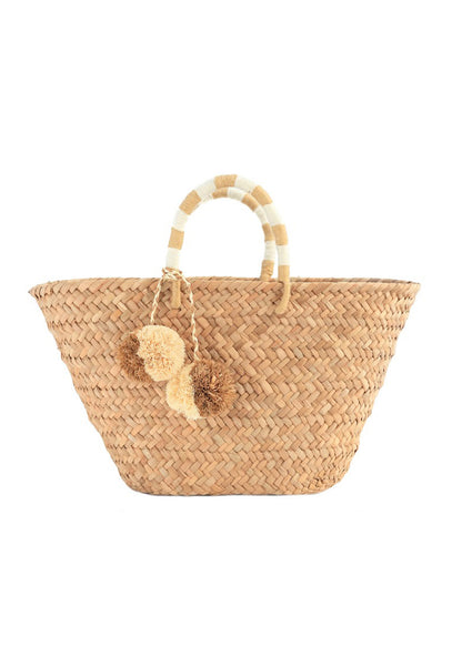 Natural St Tropez Basket Bag