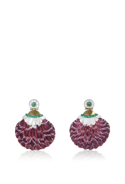 Purple Shell Earrings