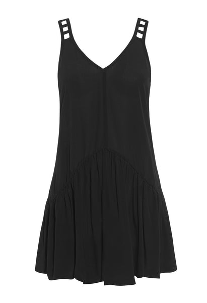 Black Silk Bahira Dress