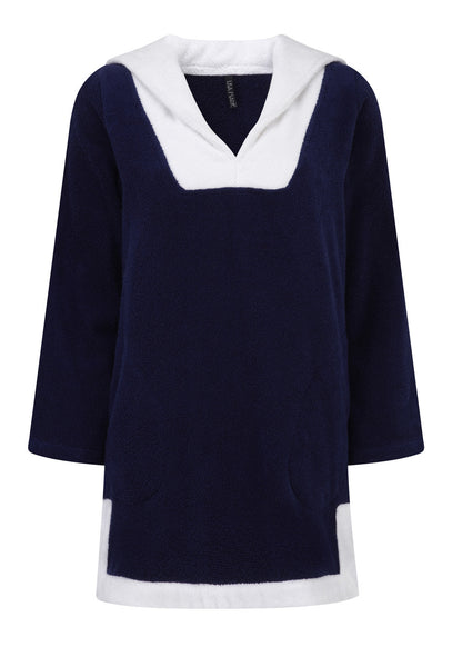Sailor Navy and White Cotton Terry Tunic