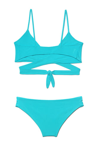 Chloe Wrap Bikini in Turquoise - FINAL SALE ITEM