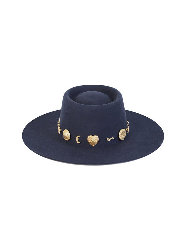 Navy Cosmic Boater Hat