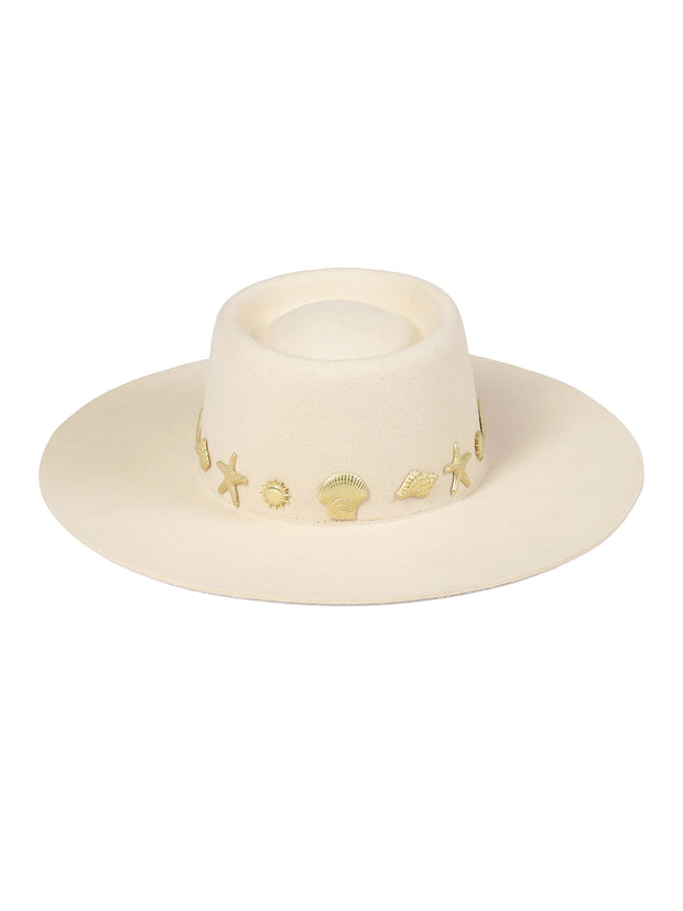Ivory Seaside Boater Hat