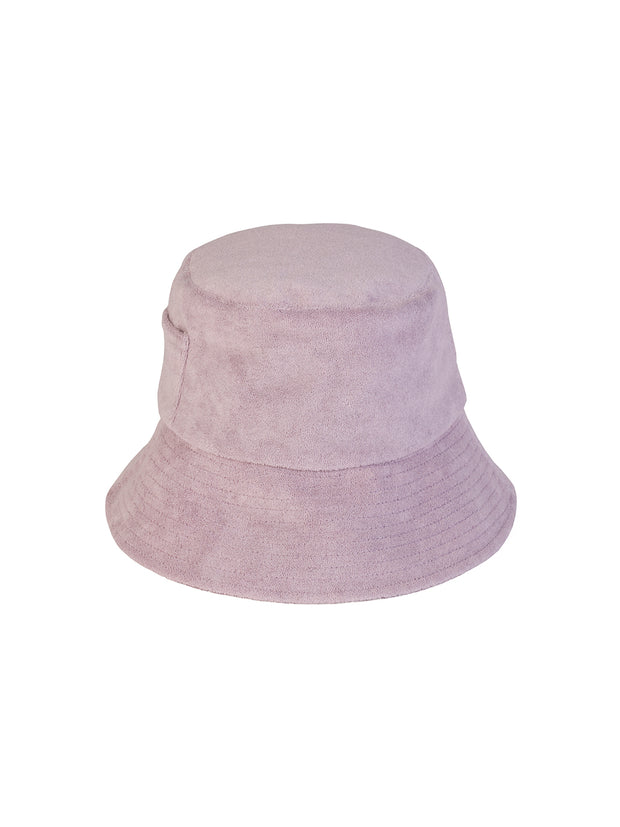 Lavender Terry Bucket Hat