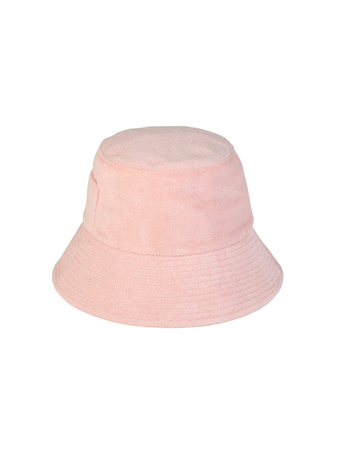 Pastel Pink Terry Bucket Hat