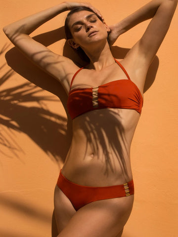 Burnt Orange Neema Bandeau Bikini