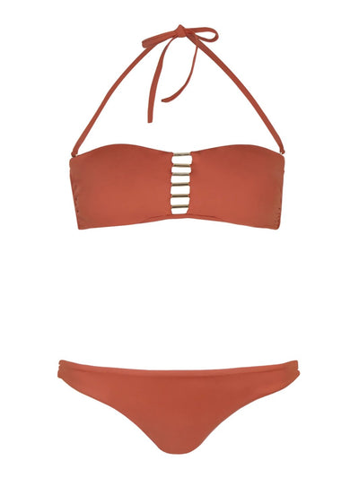 Burnt Orange Neema Bandeau Bikini - SALE
