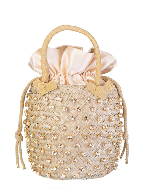 Peach Small Crystal Nina Bag