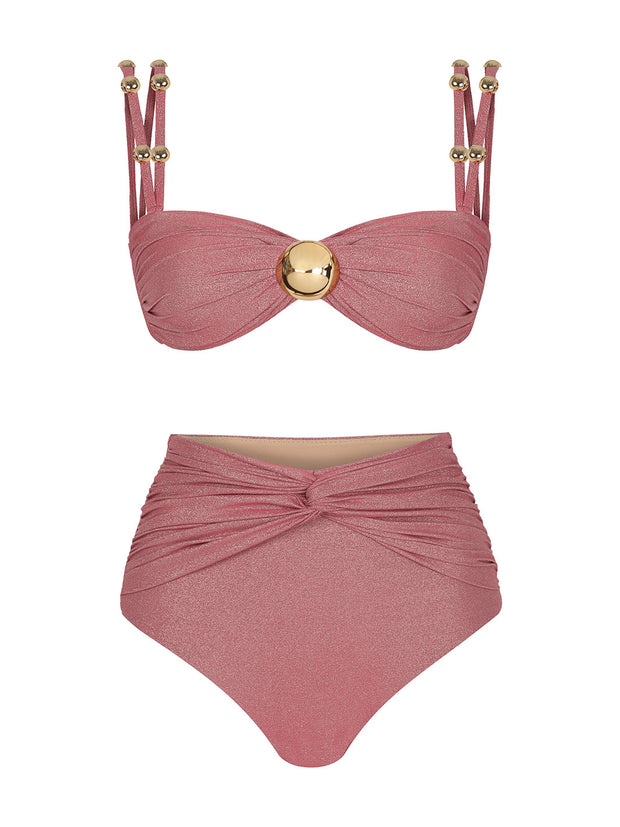 Mira Lurex High-Waisted Bikini