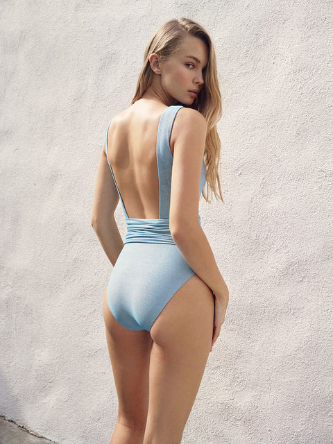 Sky Venus Lurex One Piece