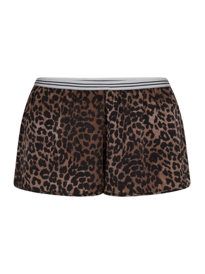 Brown Leopard Print Edie S Shorts