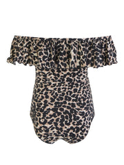 Leopard  Ruffle One Piece