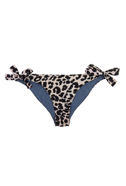 Leopard Print Zoey Tie Side Bikini Bottoms - FINAL SALE ITEM
