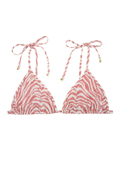 Zebra Print Joy Triangle Bikini Top