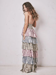 Metallic Clarissa Maxi Dress