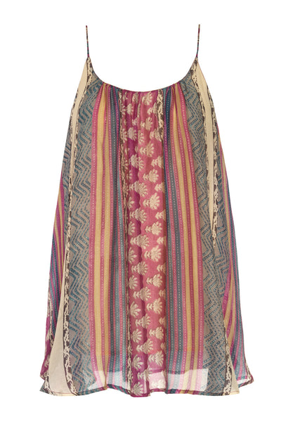 Chimene Silk Caravan Print Top