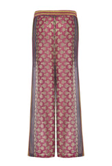 Costa Silk Caravan Print Trousers