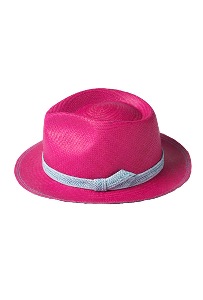 Fuschia and Blue Trim 24 Hours Hat