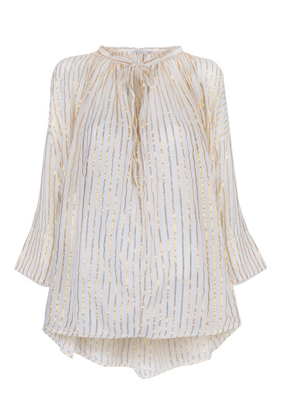 Gloria Gold Stripe Lurex Blouse