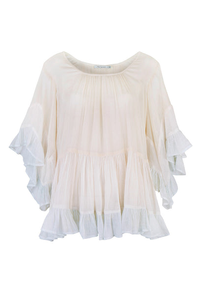 Radiance Cotton Pastel Rainbow Frill Top
