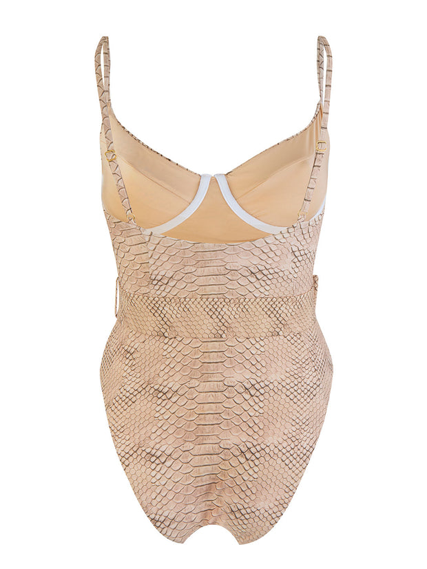 Snake Print Danielle One Piece