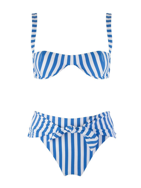 Blue And White Striped Sorrento Riviera Underwired Bikini
