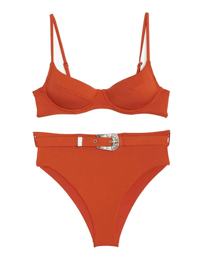Red Roobios High Waisted Bikini
