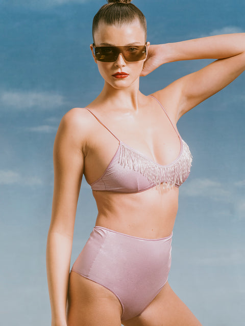 Lilac High Waisted Bikini