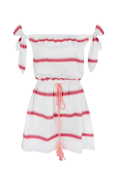 White And Pink Beso Mini Dress