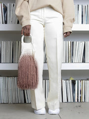 Ombre Fringed Net Bag