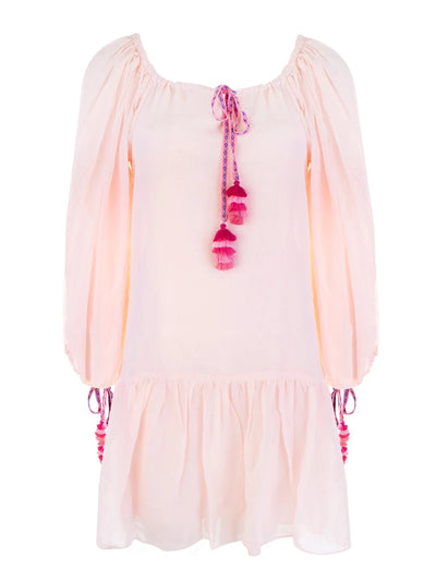 Primrose Pink Pea Short Dress - Final Sale