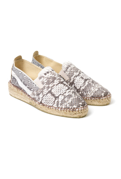 Snakeskin leather espadrilles