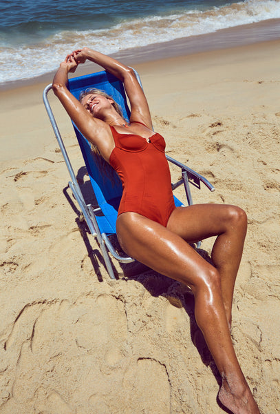 Bardot Terracotta One Piece