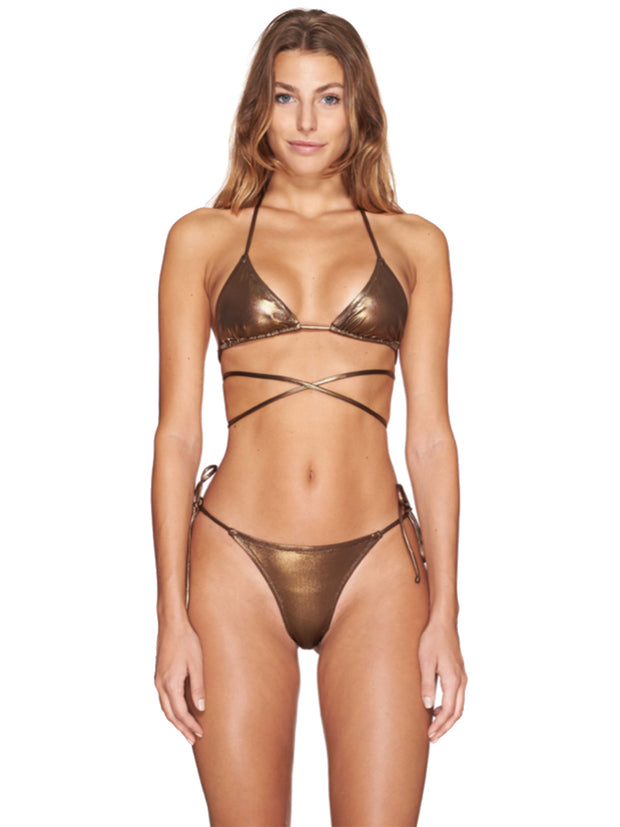 Bronze Triangle Miami Bikini
