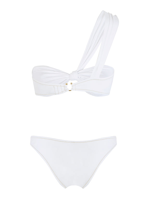 White Boogie One Shoulder Bikini - FINAL SALE