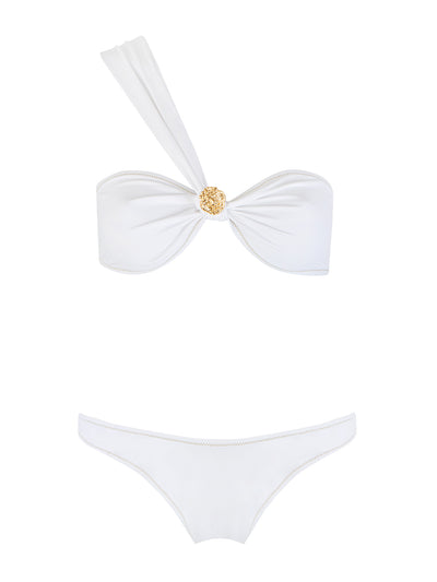 White Boogie One Shoulder Bikini
